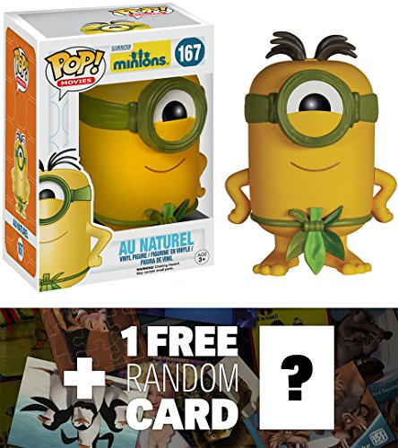 Au Naturel: Funko POP! x Minions Vinyl Figure + 1 FREE CG Animation Themed Trading Card Bundle [51105] - Au Nelson
