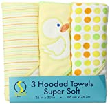 Best Spasilk Baby Girl Shower Gifts - Spasilk 3 pack Soft Terry Hooded Towel Set Review