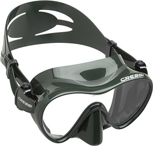 Cressi F1 Frameless Mask, Green Camo