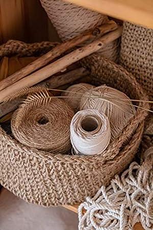 Yute Cuerdas de Esparto Rollo de Cuerda para Manualidades Cuerda Yute Gruesa Hilo Marron Decorar 240 m; /ø 1-1,5 mm Amazinggirl Cuerda de Yute Cordel