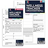 NBplanner WELLNESS TRACKER organiser refill planner insert Filofax Compatible coloured English (A5: 148 x 210 mm)