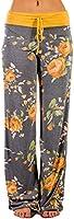 iChunhua Women's High Waist Casual Camo Floral Print Drawstring Wide Leg Pants XL Camo