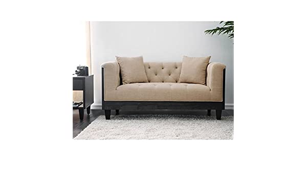 Amazon.com: Furniture of America Leon Transitional Loveseat ...