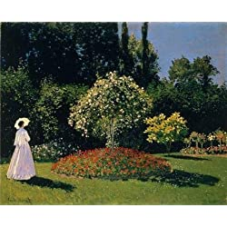 'Jeanne-Marguerite Lecadre In The Garden 1866 By Claude Monet' Oil Painting, 10x12 Inch / 25x31 Cm ,printed On Perfect Effect Canvas ,this Imitations Art DecorativePrints On Canvas Is Perfectly Suitalbe For Game Room Artwork And Home Gallery Art And Gifts