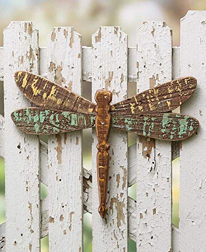 The Lakeside Collection Distressed Panel Wood Dragonfly - ()