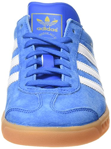 adidas Herren Hamburg Low-Top Blau (Bluebird/Ftwr White/Gum)