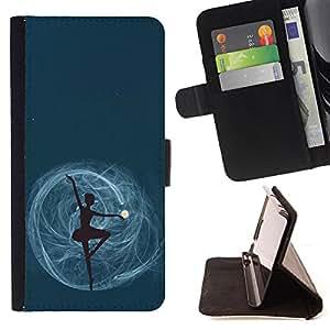 King Case - FOR Sony Xperia Z1 Compact D5503 - never say no - Prima caja de la PU billetera de cuero con ranuras para tarjetas, efectivo Compartimiento desmontable y correa para la mu?eca