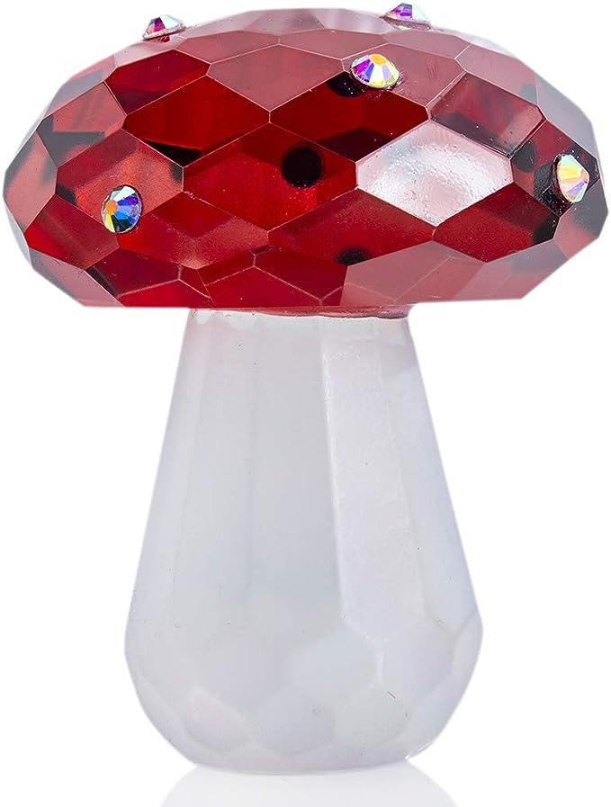 Mushroom vase Ceramic sculpture Red Amanita statuette Candy bowl Decorative vase figurine Alice in wonderland style Decorative Centerpiece