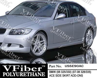 2006-2010 BMW 3-Series (E90) 4dr Vfiber Urethane Body Kit ACE Side (Vfiber Side Skirts)