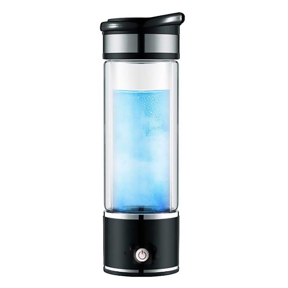ポータブルスマートウォーターカップ、水素リッチウォーターメーカーボトル、イオン水ジェネレータアルカリエネルギーカップ水素化ウォーターボトル、350ミリリットル