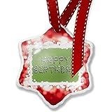 Christmas Ornament Happy Birthday Spa Stones Rocks, red - Neonblond