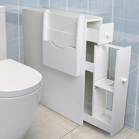 amazon com qotone bathroom storage cabinet slim bathroom floor rh amazon com bathroom storage toilet paper roll holder bathroom wall toilet paper storage