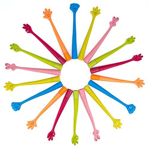 WOCLHJ- Boligrafo creativo con forma de dedo, boligrafo flexible, 12 piezas, boligrafo curioso, juguetes para ninos, escuela, papeleria, suministros de oficina