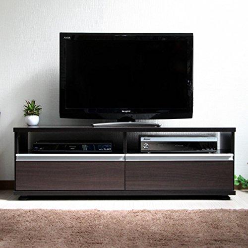 【予約販売8月下旬入荷予定】テレビ台 ローボード テレビボード 120cm ロータイプ TV台 テレビラック AVボード TVラック AVラック シンプルデザイン おしゃれ 北欧 収納 木製 ダークブラウン TCP357-DBR J-Supply B07BQMXM63