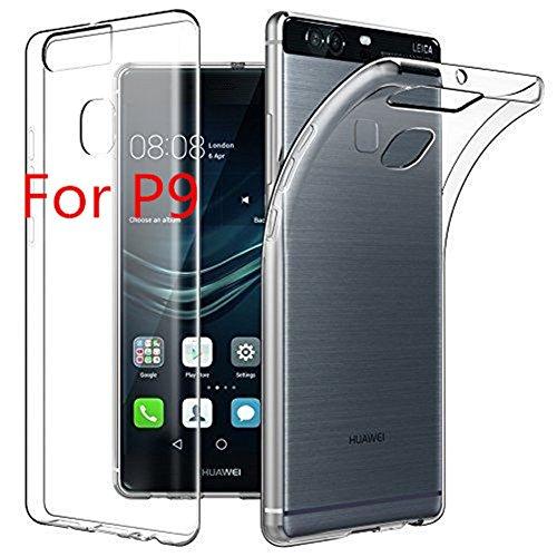 Interesting® Clear TPU Funda protectora de la caja para Huawei P9