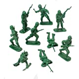 DELUXE BAG OF CLASSIC TOY GREEN ARMY SOLDIERS - 36 Pc.