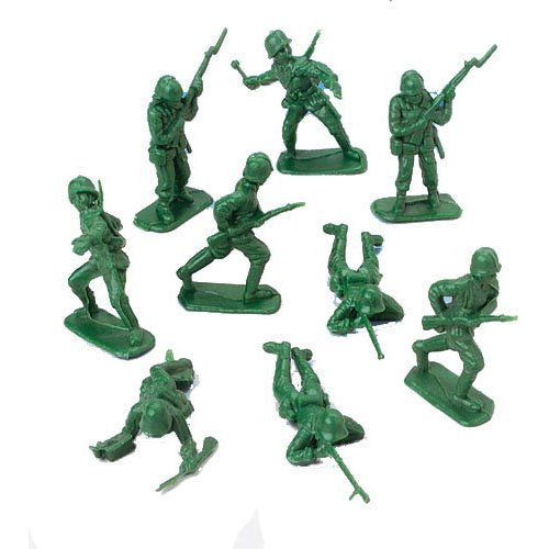 Men Toy Soldiers - DELUXE BAG OF CLASSIC TOY GREEN ARMY SOLDIERS - 36 Pc.