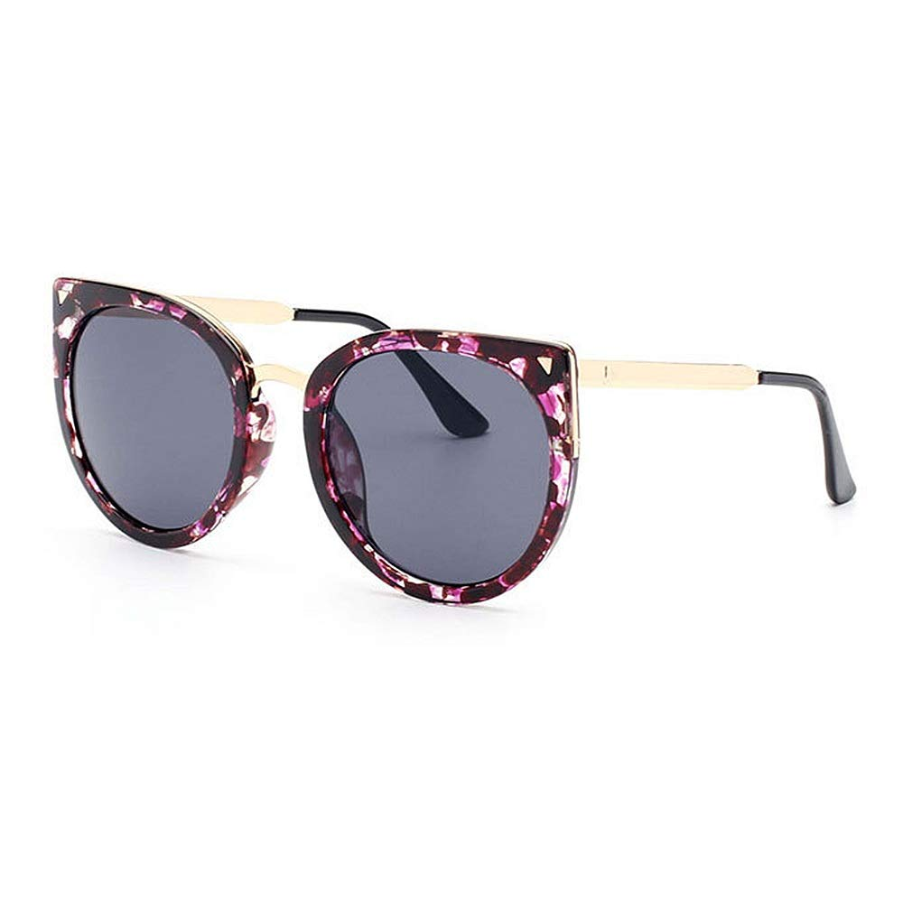 Big Cat Eyes Flower Frame UV Predection Sunglasses colord Lens Outdoor Driving Travelling (color   C1)