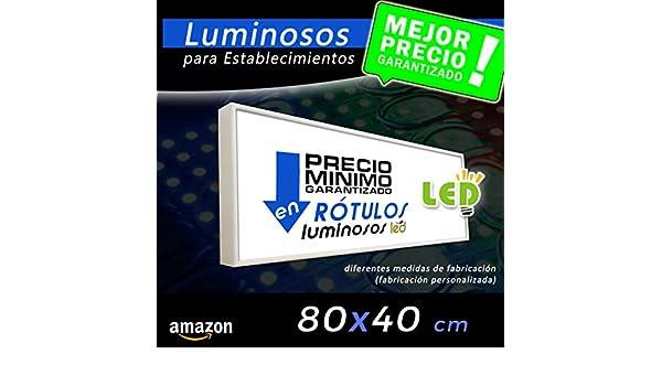 Rótulo Luminoso led 80x40, cajón luminoso para publicidad ...