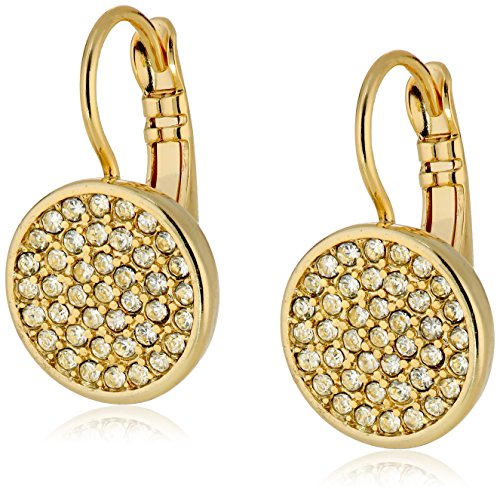 Anne Klein Gold Tone and Crystal Pave Drop Earrings Anne Klein Gold Tone Earrings