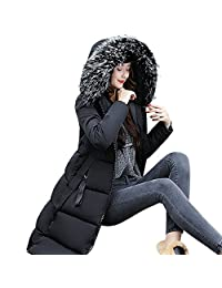 XILALU Women Solid Casual Thicker Winter Slim Down Lammy Jacket Coat Overcoat