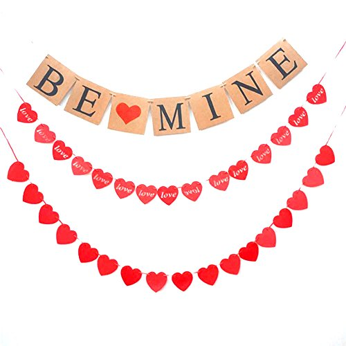 Be Mine Banner- Valentine's Day Danner Party Decoration -