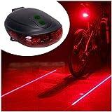 Lanterna Traseira Farol Bike Com Ciclovia a Laser e Farol de led