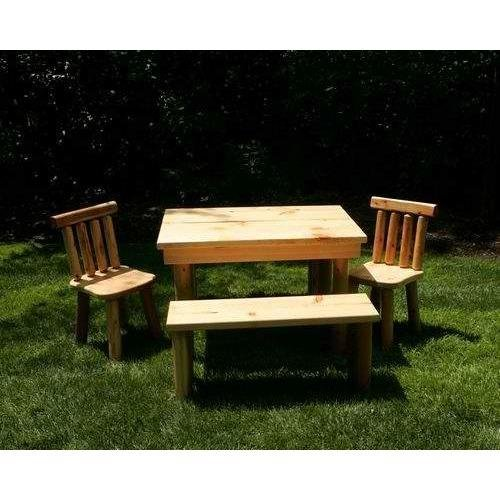 Price comparison product image Moon Valley Rustic The Nicholas Cedar Table Set 1 Table,  2 Chairs,  2 Benches