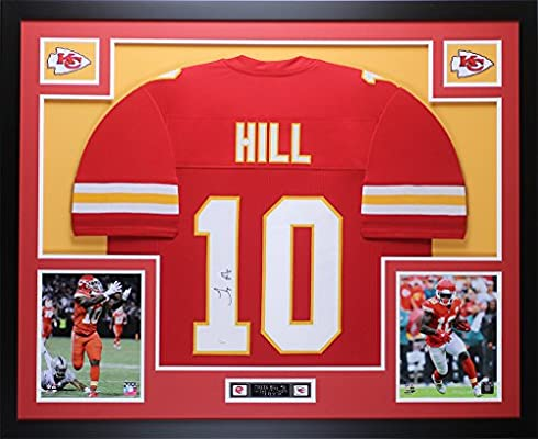 sports shoes a55fc 1016f Tyreek Hill Autographed Red Kansas City Chiefs Jersey ...