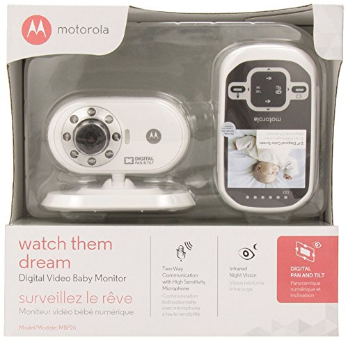motorola mbp26 wireless 2 4 ghz video baby monitor with 2 4 color lcd screen infrared night. Black Bedroom Furniture Sets. Home Design Ideas