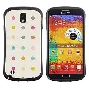 Pulsar iFace Series Tpu silicona Carcasa Funda Case para Samsung Note 3 , Polka Dot Pastel Beige Jaune Motif Couleurs