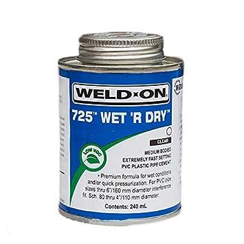 Soldadura en 725 Wet R seco PVC-U tubería de plástico Cemento ...