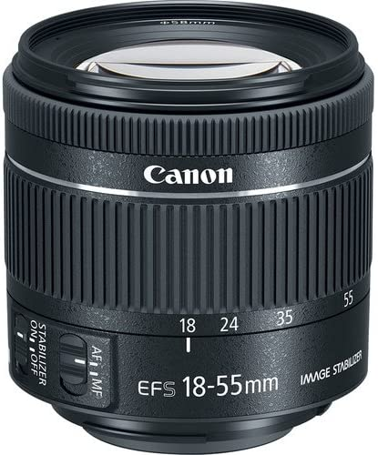 Filter Kit Canon EF-S 18-55mm f//4-5.6 is STM Lens New in White Box Pro Bundle with Telephoto and Wide Angle Lens Lens Cap Keeper and More Tulip Hood Lens