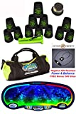 Speed Stacks Custom Combo Set - The Works: 12 PRO BLACK 4'' Cups, Cup Keeper, Quick Release Stem, Pro Timer, Gen 3 Premium VOXEL GLOW Mat, 6 Snap Tops, Gear Bag + FREE: Active Energy Power Necklace $49