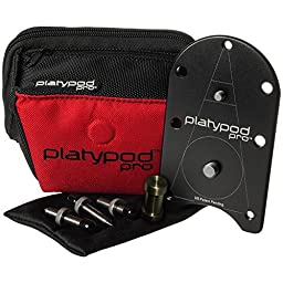 Platypod Pro Camera Support Base Tripod - Deluxe Kit with Case & Spike/Screw Set