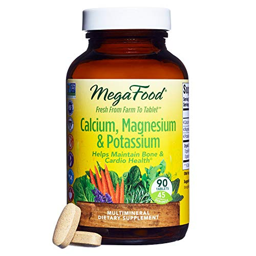 MegaFood - Calcium & Magnesium, Promotes Healthy Bones, Muscles, Blood Pressure Levels, and Cardiovascular Health, Vegetarian, Gluten-Free, Non-GMO, 90 Tablets (FFP) by MegaFood (Image #1)