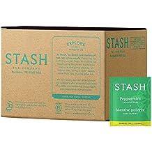 Stash Tea Peppermint Herbal Tea 100 Count Box of Tea Bags, Premium Herbal Tisane, Minty Refreshing Herbal Tea, Enjoy Hot or Iced