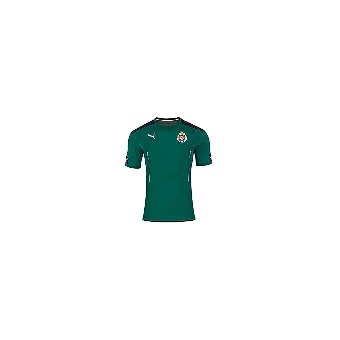 new concept 1a2fb d9c6c Amazon.com: PUMA Men's Chivas Goalkeeper SS Jersey Green ...