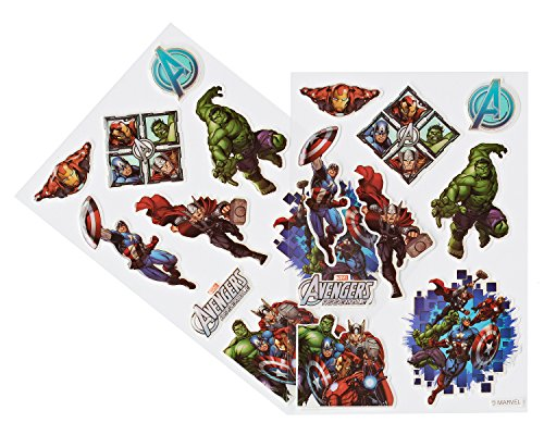 American Greetings Marvel Avengers Sticker Sheets, 2 Count,