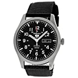 Seiko Mens SNZG15 Seiko 5 Automatic Stainless Steel Watch with Nylon Strap