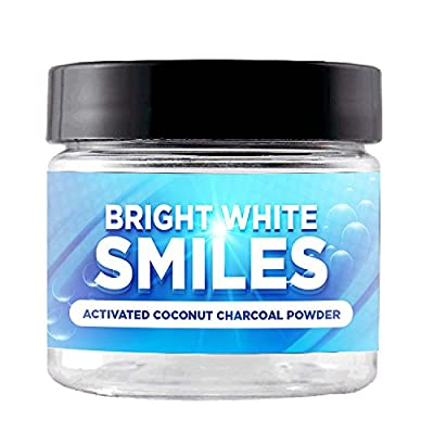 Natural Teeth Whitening Charcoal Powder Kit: Activated Black Charcoal For Whiter Teeth, Healthier Gums & Fresh Breath- 10x Better Organic Dental Health Than Strips/ Pills/ Kits/ Supplements