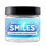 Natural Teeth Whitening Charcoal Powder By Bright White Smiles: Activated Charcoal For Whiter Teeth, Healthier Gums & Fresh Breath – With Organic Coconut, Orange Seed Oil, Sodium & Mint Flavor