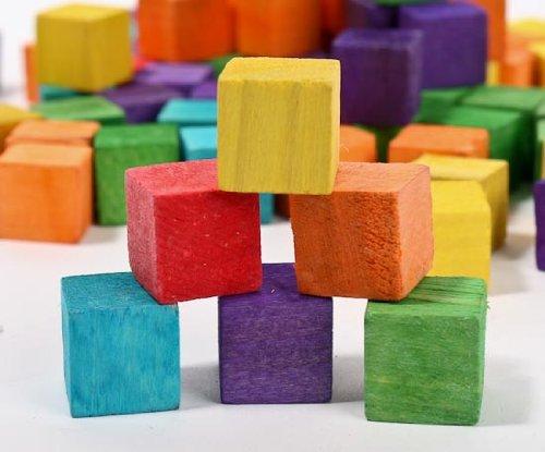 (JellyBeadZ Brand - 12 WOOD BLOCKS- Assorted Colors )