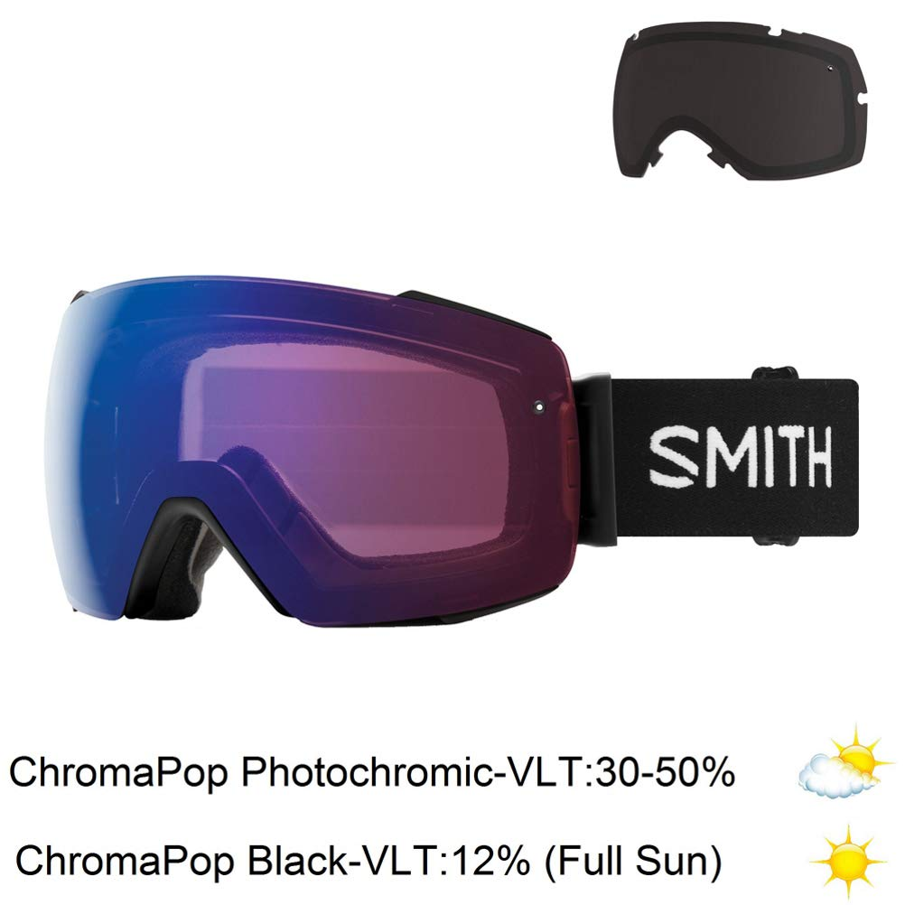 0d4f52adf Amazon.com : Smith Optics Io Mag Adult Snow Goggles - Black/Chromapop  Photochromic Rose Flash : Sports & Outdoors