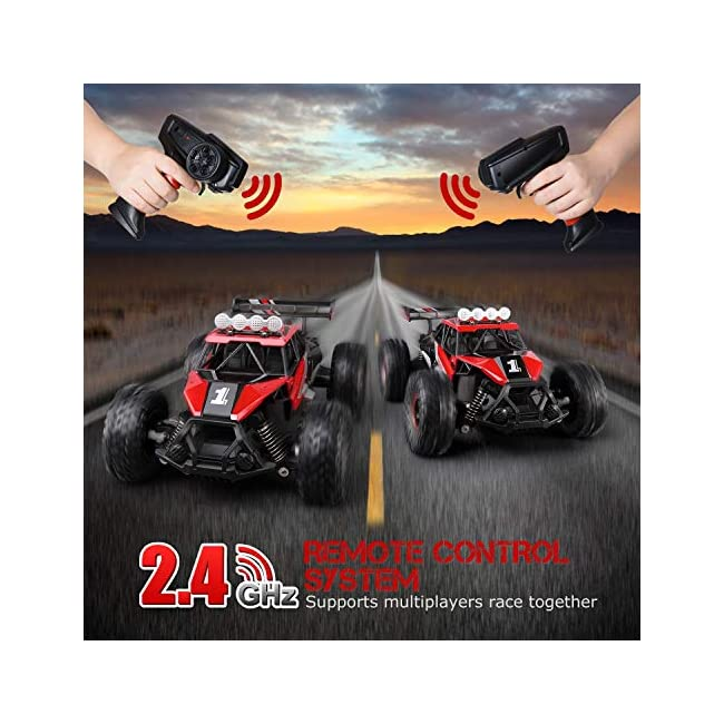 SGILE Remote Control Car Toy for Boys  2.4 GHz RC Drift Race Car  1:16 Scale Fast Speedy Crawler Truck  2 Batteries for 50 Mins Play  Toy Gift for Boys Girls