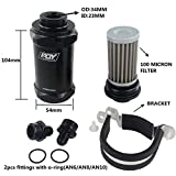 PQY PQYRACING AN6 Inline Fuel Filter E85 Ethanol