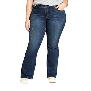 a7f01fd5dbd Universal Thread Women s Plus Size Skinny Bootcut Jeans Medium Wash (24W   ...