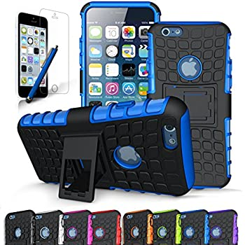 """iPhone 6S Case / iPhone 6 Case, CINEYO heavy Duty Rugged Dual Layer Case with kickstand (Apple iPhone 6S Case / iPhone 6 Case - 4.7"""" case) (Blue)"""