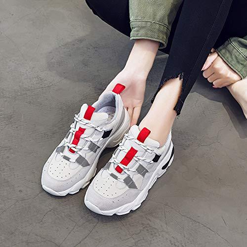 Cabeza Juego Jogging Shock Redonda Color 6size A De 5 Calzado Deportivo Tamaño Mujer Individuales Zapatos Zhijinli Casual RwxAqgO