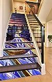 3D Night Cityscape 705 Stair Risers Decoration Photo Mural Vinyl Decal Wallpaper Murals Wallpaper Mural US Lemon (15x H:18cm x W:94cm (7''x37''))